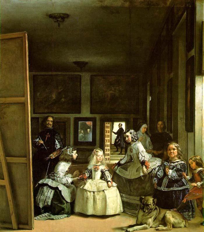 宮廷の侍女たち 1656年 油彩 318×276cm 所蔵:プラド美術... 宮廷の侍女たち/ベ